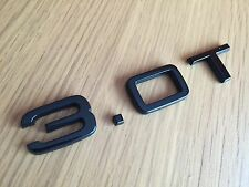 3.0T BLACK GLOSS REAR BADGE FOR AUDI A3 A4 A5 A6 A7 S LINE TFSI BLACK EDITION