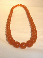 Bernstein Halskette Honig Oliven Kugeln amber necklace all colours round beads