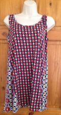 Vera Bradley Uniqlo 70s Retro Two Print Shift Dress UK 12