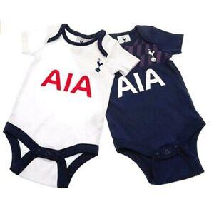 Official Tottenham Hotspur Football Club Twin Pack Spurs Babys Bodysuits