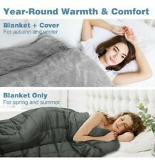 "Weighted Blanket (Weighted Blanket w/ Duvet, 48''x72"" 12lbs) 2 in 1"