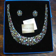 "Heidi Daus ""Fantasy in Flight"" Necklace and Studded Clip Earrings , NIB,Stunning"
