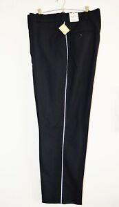 Flying Cross by Fechheimer MBTA Uniform Silver Stripe Pants Black Size 40R NWT
