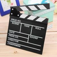 Director Video Scene Clapperboard TV Movie Clapper Board Film Slate Cut Prop  FZ