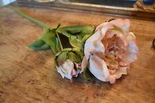 Antique Peach Faux Silk Peony, Vintage Peach Luxury Artificial Flower