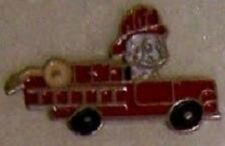 Hat Lapel Tie Tac Push Pin Fire Dog Sparky and Truck N
