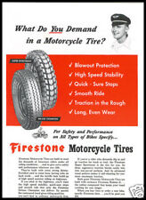 1960 vintage ad for Firestone Motorcycle Tires
