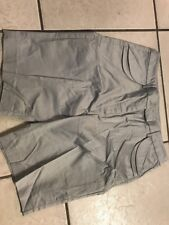 Simply. Chloe Dao Shorts with Double Flap Pockets 2 Light Gray SZ 12