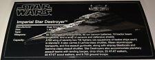 "Star Wars Sticker for Lego® ""10030"" Star Destroyer UCS 8x16 tile cmyk vinyl HQ"