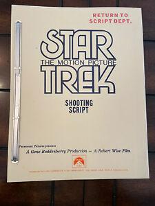 Star Trek Motion Picture Shooting Script 1979 Roddenberry Livingston Wise