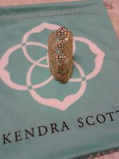 Kendra Scott Boone Filigree Gold Adjustable Statement Ring