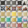 "18""Vintage Geometry Pillow Case Sofa Throw Cushion Cover Cotton Linen Home Decor"