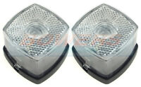 2 WHITE CLEAR FRONT MARKER LIGHTS LAMPS BRENDERUP IFOR WILLIAMS TRAILER HORSEBOX