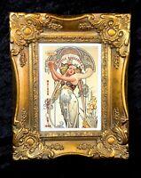 Hingre Art Nouveau Art Deco Champagne Advertisment Framed Print Beautiful Ornate