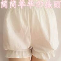 100% Cotton Cute sweet  Mori Girl Lolita Bloomers Pantaloons Shorts cosplay