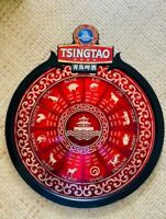"""LARGE TSINGTAO Beer Chinese Zodiac  Beer Sign 22"""" x 19"""" MINT EXCELLENT"""