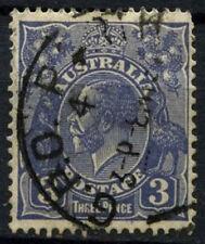 Australia 1931-6 SG#128, 3d Ultramarine KGV Used #D48539