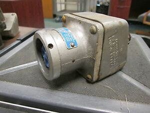 Crouse-Hinds Receptacle w/ Body AR-344  30A  600V  3W  4P  Used
