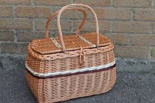 SMALL SIZE HANDMADE Quality - beautiful WICKER basket with lid,BAG -CHILDREN BAG