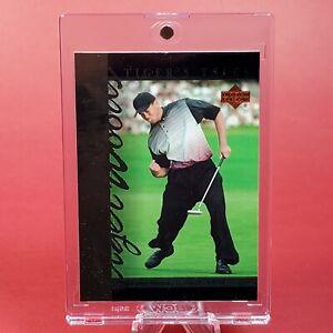 2001 ROOKIE Tiger Woods UPPER DECK GOLF CARD w/ UV PROOF CASE