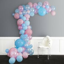 JUNIBEL Balloon Arch & Garland Kit 80 Pink & Blue Ballon & Baby Reveal Party Kit
