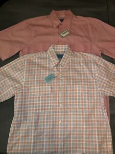 Lot Of 2 Castaway Clothing Company Button Shirts Mens Size Small Pink NWT