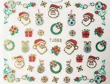 Nailart Stickers Autocollants Ongles Déco Noël Scrapbooking Cadeaux Père Noël