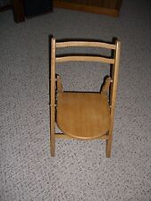 "Youth Heavy Duty Light Wood/Satin Finish Folding Chair/Indoor/Outdoor/22"" Tall"