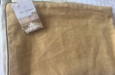 Yves Delorme CRAVATE GOLD 100% LINEN CUSHION COVER PILLOWCASE