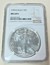 1990 American Silver Eagle NGC MS69 **Star**