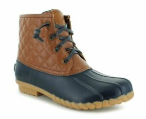NEW NAUTICA Dorsay Cold Weather Duck Boots, Tan/Navy
