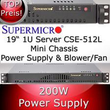 Supermicro 1HE / 1U Rack Gehäuse / Chassis SC512-200B + Netzteil, Blower-Fan