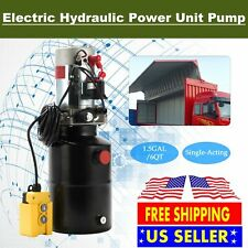 DC 12V 6 Quart Single Acting Hydraulic Pump Power Unit Remote Control