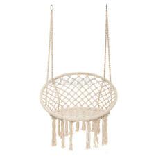 Deluxe Hanging Hammock Chair Swing Rope Outdoor Indoor Bar Garden Camping