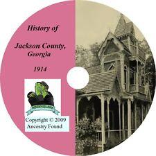 JACKSON County, Georgia GA - History Genealogy - Family Tree Ancestry CD DVD