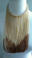 African  Long multicolored Waterfall handmade Beaded Necklace