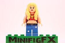 Lego WONDER GIRL Custom Minifig DC Teen Titans Young Justice Cassandra Sandsmark