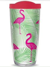 Covo 16oz Flamingo Hot/Cold Double Wall Plastic Tumbler NEW