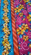 "FABRIC SARI MADE IN INDIA ORANGE PINK YELLOW BLUE 100% COTTON 45"" X 7+ YARDS!!!!"