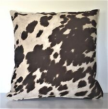 large cowhide beige brown white faux fur pony pillows western handmade usa
