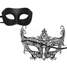 His & Hers 'Gossip Girl' Venetian Couple Masquerade Mask Set W7344B/M7142B