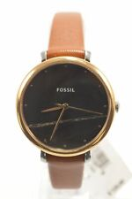 Fossil ES4378 Jacqueline Black Dial Luggage Leather Strap Ladies Watch