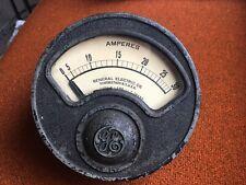 1915 Vintage Industrial Antique General Electric Amp Meter, Ge Type R-6