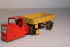 1950's Dinky Toys #33w, Mechanical Horse,  Red Truck with Tan Bed, Original