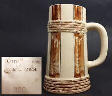 Krug / boccale birra, ceramica, OTTO Buhlmann Lipsia, del 1900 al447