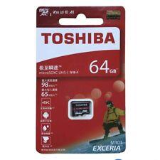 Toshiba Exceria M303 64GB UHS-I U3 MicroSD SDXC SDHC Flash Card TF R98/W65 4K