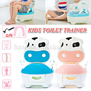 Potty Training Toilet Seat Baby Portable Toddler Chair Kids Baby Trainer+Brush