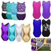 Girls Sleeveless Ballet Dance Dress Gymnastics Leotard Dancewear Lace Bodysuit