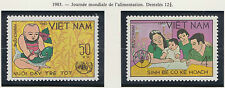 VIETNAM N°460/461** JOURNEE DE L'ALIMENTATION 1983 Vietnam 1321-1322 FOOD DAY NH