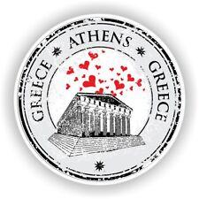 Greece Athens Stamp Bumper Sticker Decal for Car Laptop Tablet Door